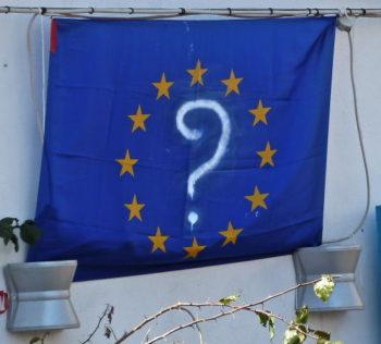 Europa-Fahne auf Lampedusa