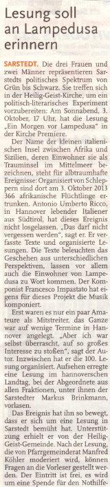 Leine Nachrichten 26.9.2015