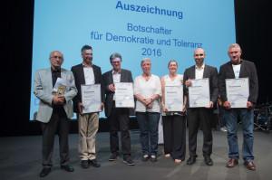 Die Preisträger (Foto: © BfDT/ Marco Urban)