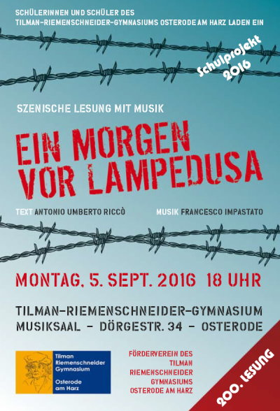 Lesung Osterode am Harz, 5.9.2016, 18.00 Uhr