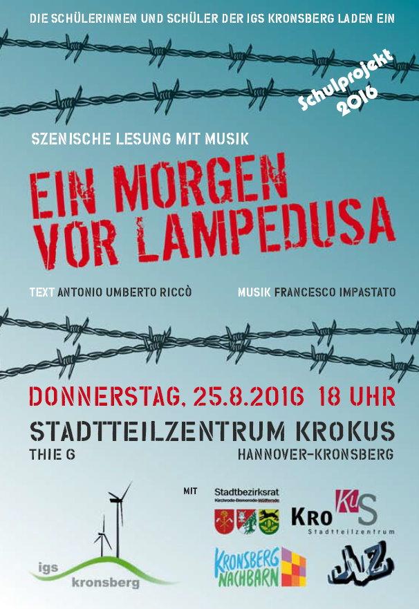 Lesung Hannover-Kronsberg, 25.8.2016, 18.00 Uhr