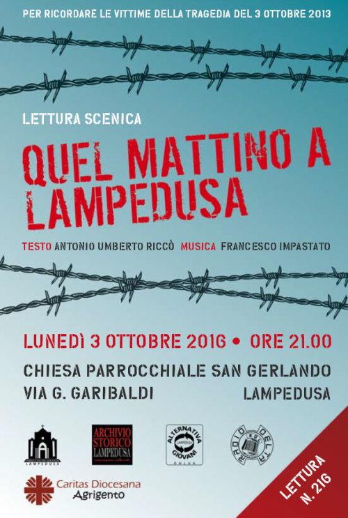 Lesung auf Lampedusa, 3.10.2016
